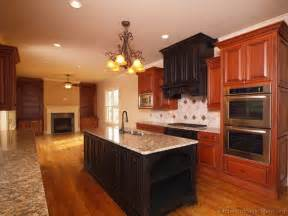 Cherry Cabinet Kitchens Dark Cherry Color Kitchen Cabinets And Isles Best Home