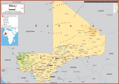 physical map of mali mali maps academia maps
