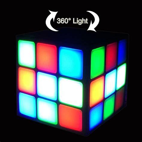 Dijamin Cube Gaming Rgb Cabrion Black White new wayzon magic rubik s cube portable led rgb light bass import it all