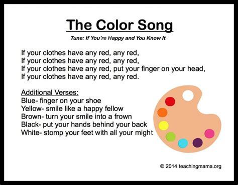 song pre k 10 preschool songs about colors preschool songs songs