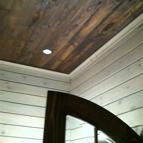 Hardwood Ceiling Planks by Stained Ceiling Wood Plank Walls Ideas For Home
