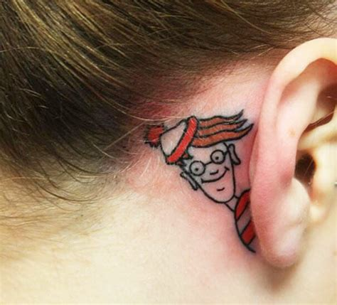 gecko tattoo behind ear 31 behind the ear tattoos that will make you want to get inked