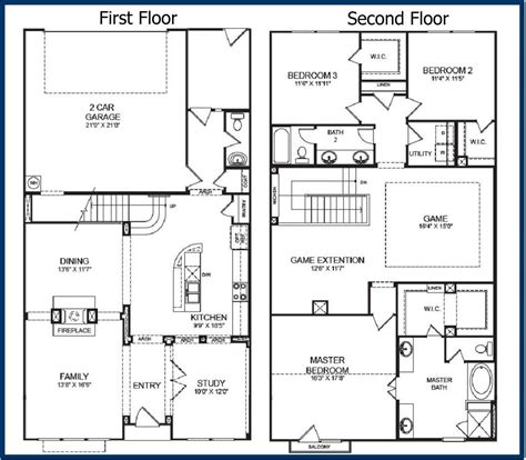 simple two storey house floor plan simple 2 story floor