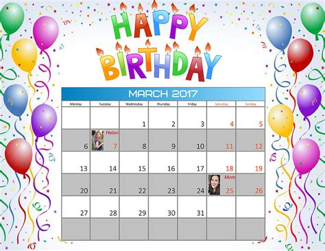birthday reminder calendar template how to create a birthday reminder calendar creative photo