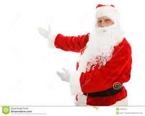 santa claus presenting stock images image 27950424