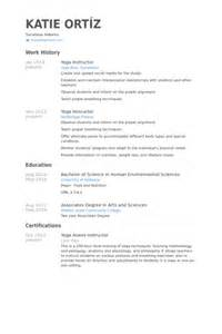 Resume Yoga Instructor instructeur de yoga exemple de cv base de donn 233 es des cv