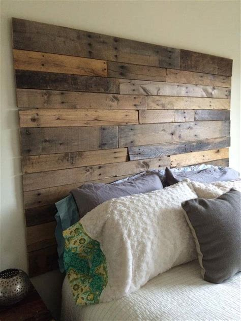 diy rustic headboard ideas diy pallet headboard 101 pallets