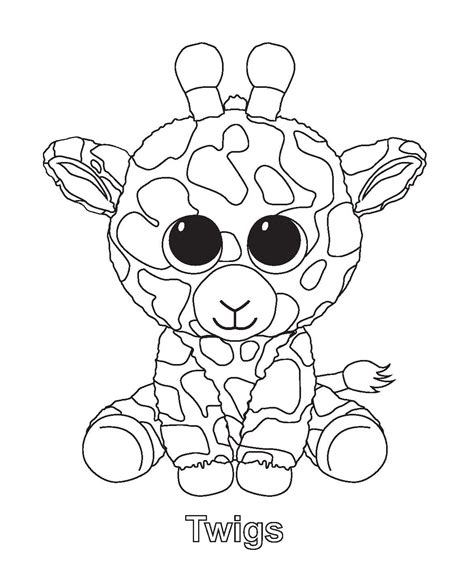 free coloring pages of beanie boo cats