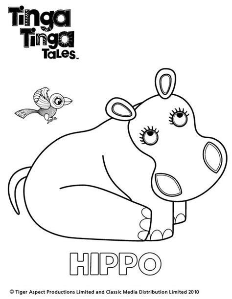 tinga tinga tales black and white picture of hippo
