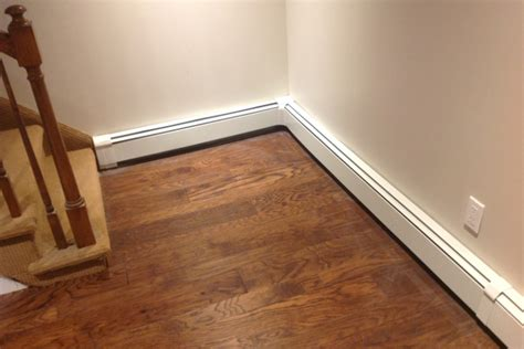 baseboard conduit do radiant heat baseboard heaters to be on the wall