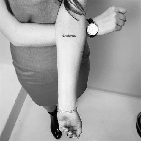balance tattoo balance on the inner forearm artist
