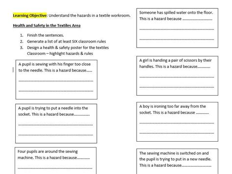 Health And Safety Worksheets For Students by All Worksheets 187 Health And Safety Worksheets For Students