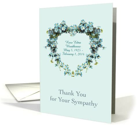 thank you letter sympathy gift thank you for your sympathy during bereavement custom name
