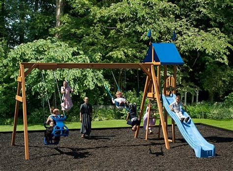 sturdy wooden swing sets this sturdy wooden swingset for kids is an ideal way to