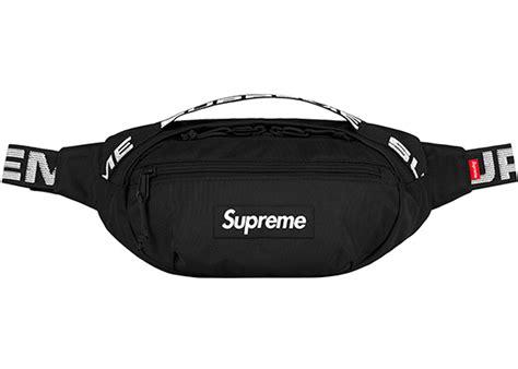supreme bag supreme waist bag ss18 black