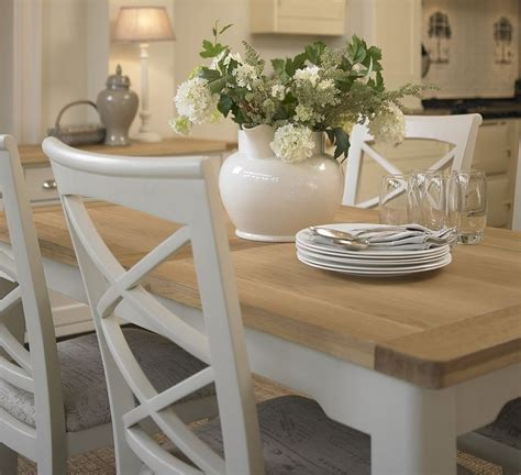 small extending dining tables uk cottage oak and painted small extending dining table oak