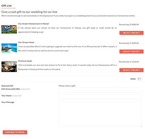 Wedding Gift List Website by Weddingpress Adding A Gift List To Your Website