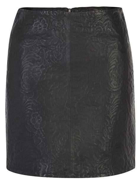 muubaa fiangi black leather skirt