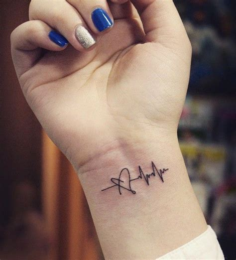 heartbeat dance tattoo 80 line tattoos to wear symbolically