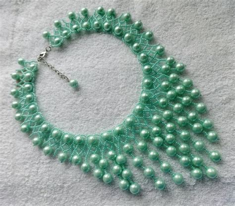 necklace pattern pinterest free pattern for beaded necklace fresh mint beads magic