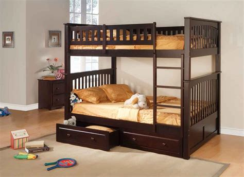 full bed bunk bed object moved