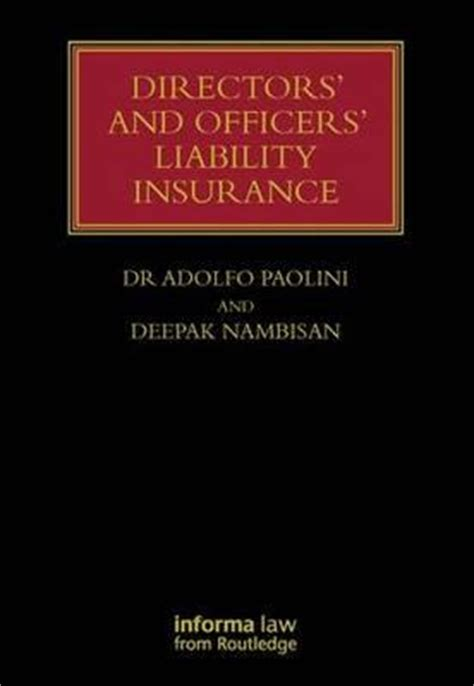 directors and officers liability insurance adolfo