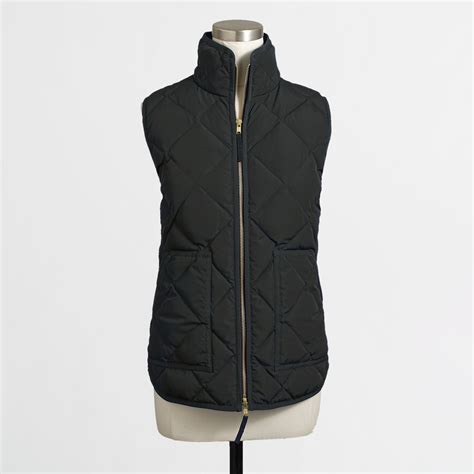 Quilted Puffer Vest by J Crew Factory Quilted Puffer Vest In Black Lyst