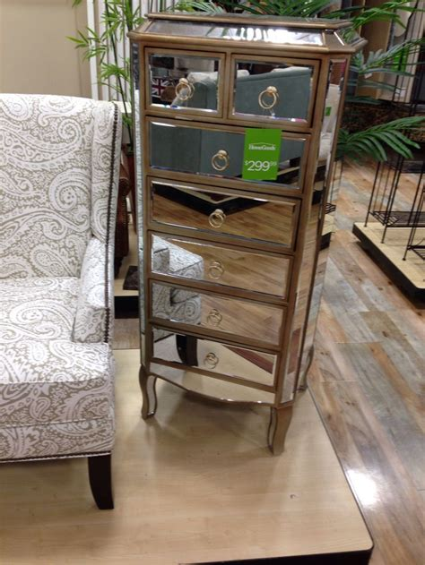mirrored dresser seen at homegoods store