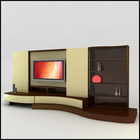 modern tv units modern tv wall unit 3d model
