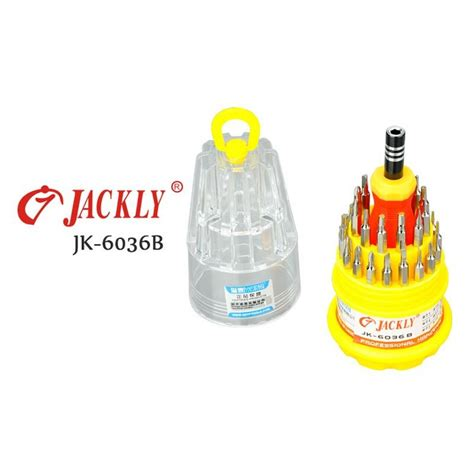 Jackly Jk6036 B Screwdriver Set 3 jackly 31 in 1 precision screwdriver professional repair tool kit jk 6036b jakartanotebook