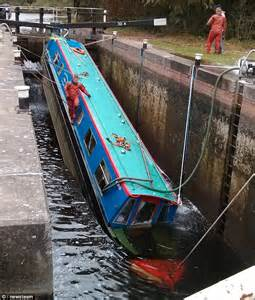 invincible boat hull design canal boat starts to sink after getting wedged in lock