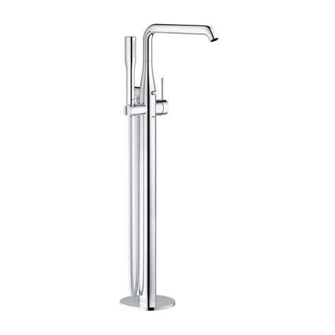 floor mount bathtub faucet grohe essence new single handle floor mount roman tub