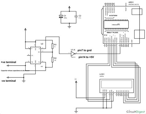 capacitor circuit uses arduino capacitance meter circuit diagram and code