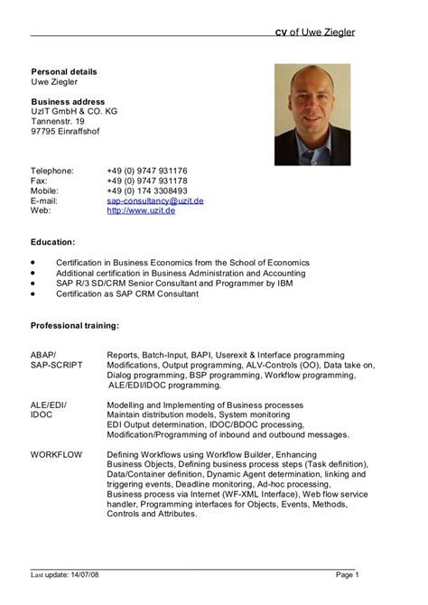 Resume Doc german cv template doc calendar doc