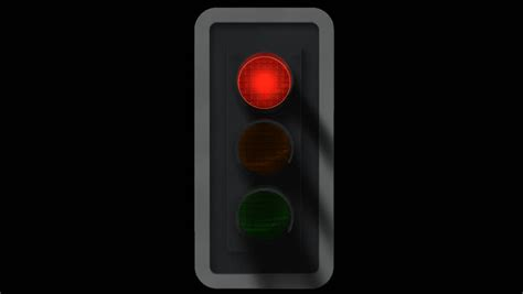 Animated Traffic Signal With Embedded Alpha Channel Stock Animated Traffic Light