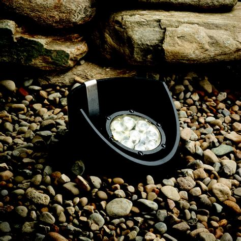 led landscape lighting 12 4watt 60 degree beam spread led well light kichler 15758
