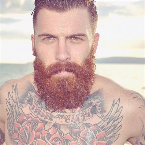 tattoo beard handsome beard and thick mustache