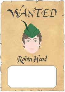 robin hood wanted poster free traditional story resources