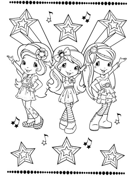 coloring pages strawberry shortcake strawberry shortcake coloring page sellos digitales