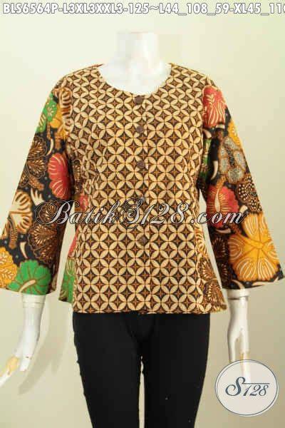desain baju unik keren baju blus wanita bahan batik desain keren tanpa krah motif