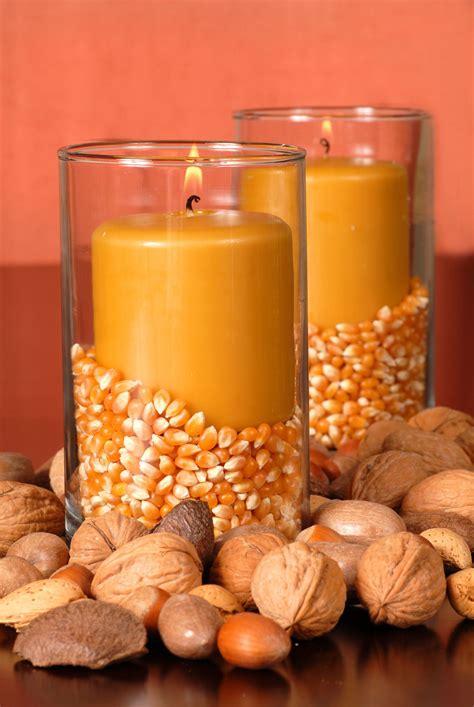 decoracion de otono velas hogarmania