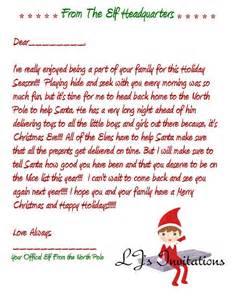 elf on the shelf boy inspired good bye letter by