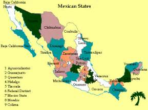 Map Of States Of Mexico by Mexican States
