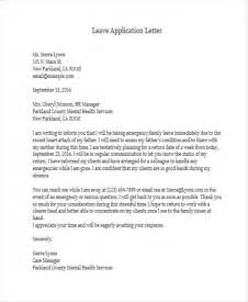 official leave letter format 35 application letter sles free premium templates