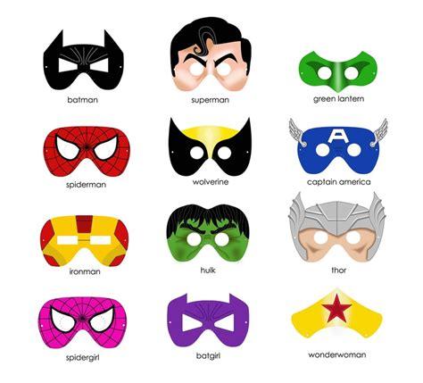 printable super heroes mask choose one superhero mask printable pdf file includes 1