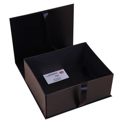 Folding Paper Box - customized folding paper box with ribbon closure dhp factory