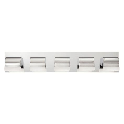 bathroom light bars chrome eurofase newport collection 5 light chrome led bath bar