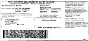 new york car registration renewal sle nys insurance id cards new york state dmv
