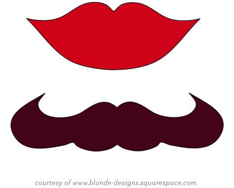 lips stencil printable clipart best