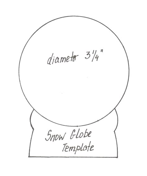 snow globe card template hello my friends theredhairedgirl